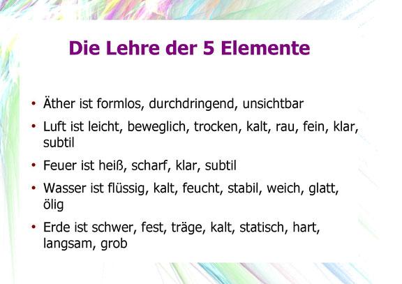 Die Lehre der 5 Elemente