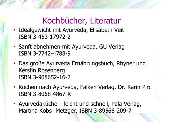 Kochbücher, Literatur, Empfehlungen