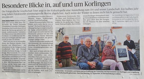 Trierischer Volksfreund, 08.09.2020