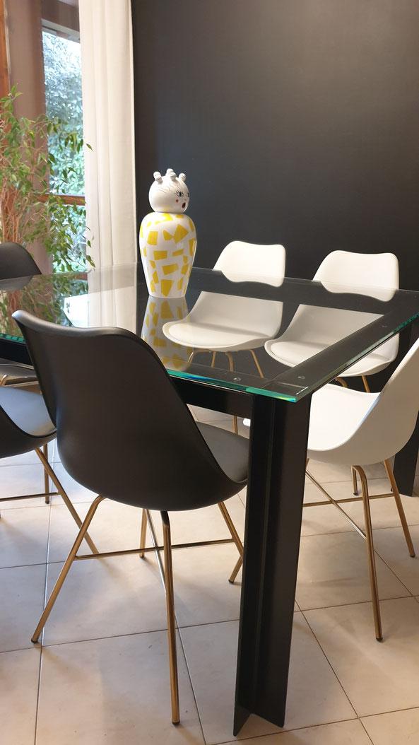 tavolino in ferro e vetro,tavolino in ferro