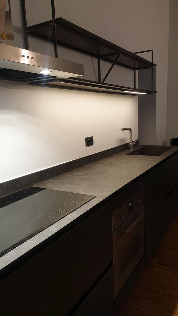 cucina in ferro,mensola in ferro su misura,arredamento in ferro