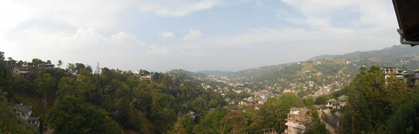 Blick vom Hotel auf Kandy
