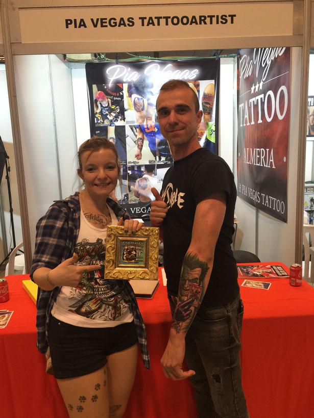 Tattoo convention zaragoza pia vegas mit preis ausgezeichnet