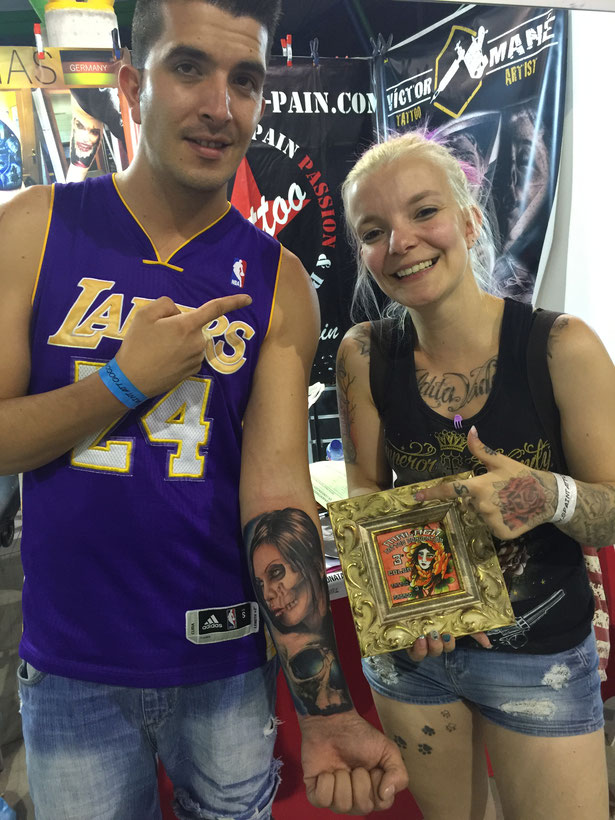 prämiert dritter platz preisgewinnerin pia vegas tattoo convention Malaga