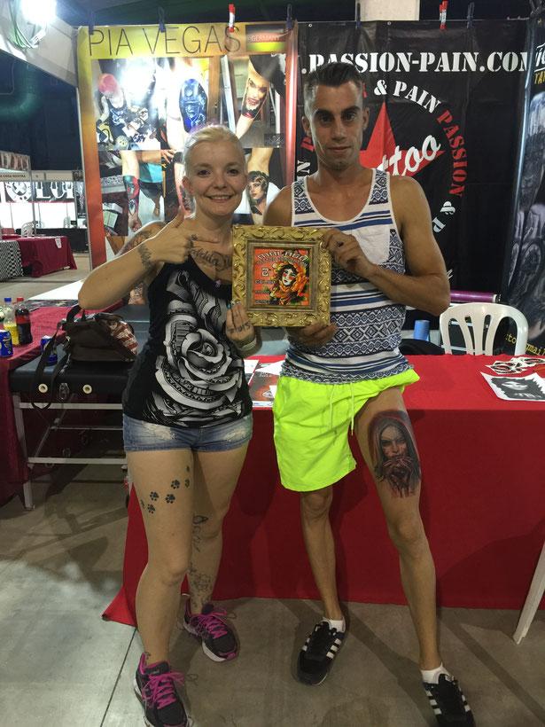 Pia Vegas prämiert preis gewinnerin malaga tattoo convention