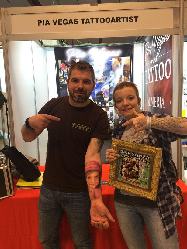 tattoo convention auszeichnung pia vegas prämiert portrait