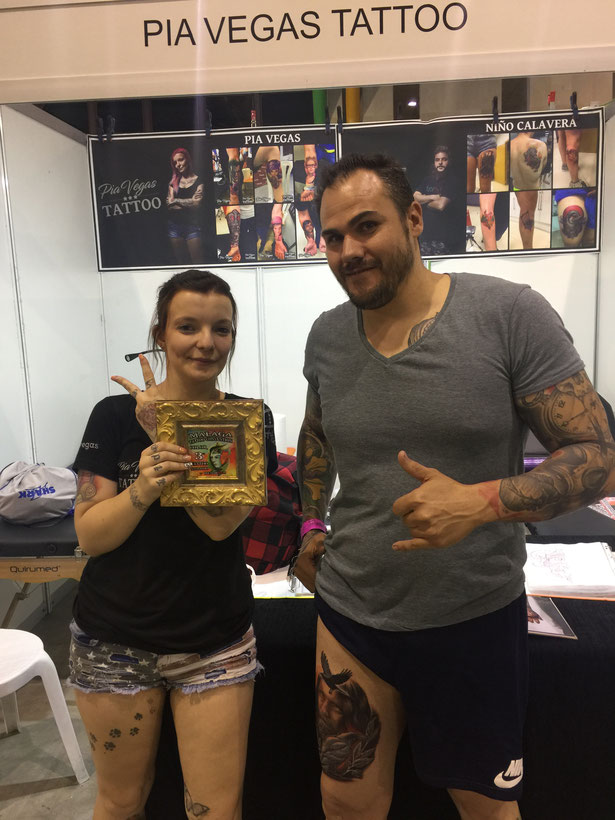 preisgewinnerin pia vegas malaga tattoo convention