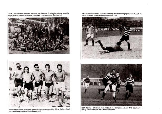 eine Collage der Admira aus dem Jahre 1924