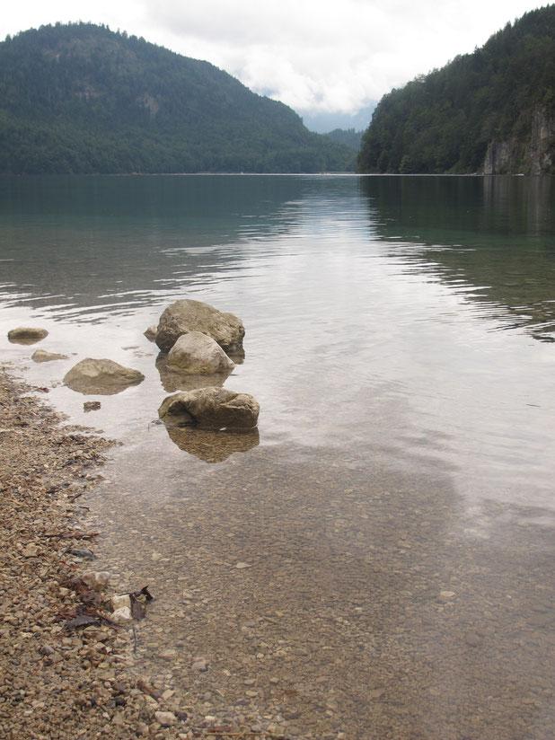 bavière allemagne lac alpsee montagnes