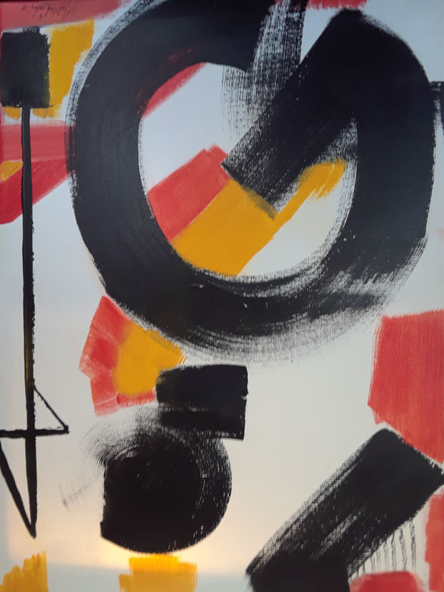 """C1 0014  Columbia        Acrylic on Canvas  September 05, 2018  24.00"""" H x 18.00"""" W 