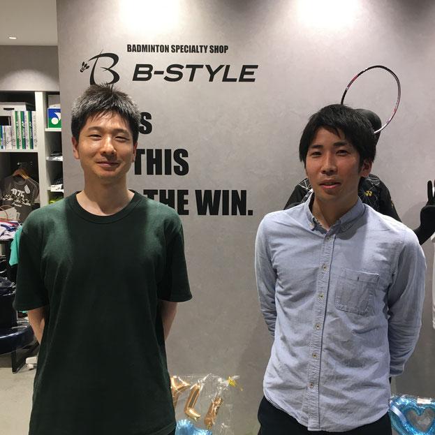 BC千葉♪ 左)平戸選手 兼 監督! & 右)井上選手 兼 キャプテン!