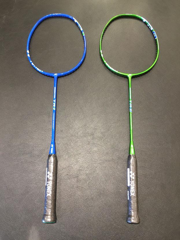 左のブルーがTR1.右のグリーンがTR0