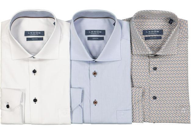 Ledub non iron overhemden