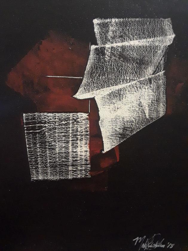 "C1 0007  Nazca     Acrylic on Canvas   January 02, 2018  10.00"" H x 08.00"" W"