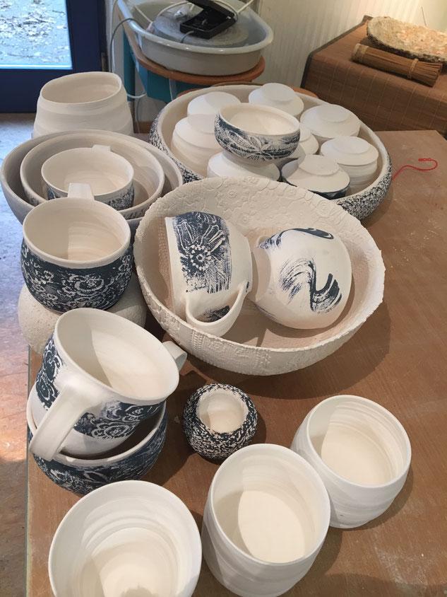 Feuerung Keramikarbeiten Schornstein