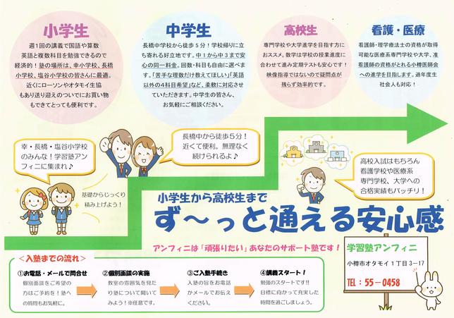 道新朝刊チラシ・裏面