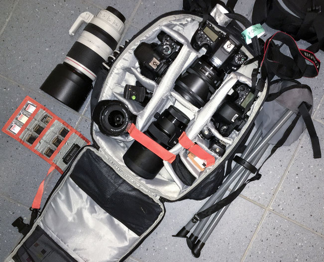 Mein Equipment für die Arena.