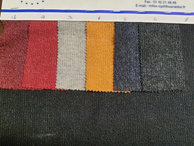 Tissu maille sideney  collection  de tissu hiver 2022