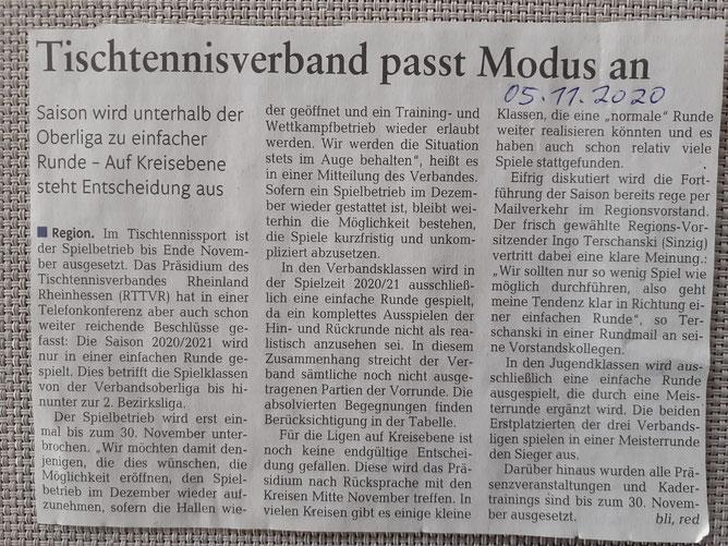Quelle: Rheinzeitung vom 05.11.2020, Artikel von Bernd Linnarz