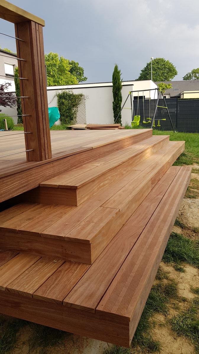 Structure Terrasse Bois Surélevée terrasse bois - site de germain brault menuisier agencement