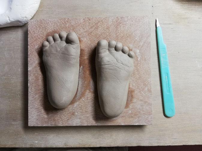 陶芸家 ブログ 焼き物 陶芸作品 茨城県笠間市 手形 足形 赤ちゃんの手 子供の手 立体手形 記念手形