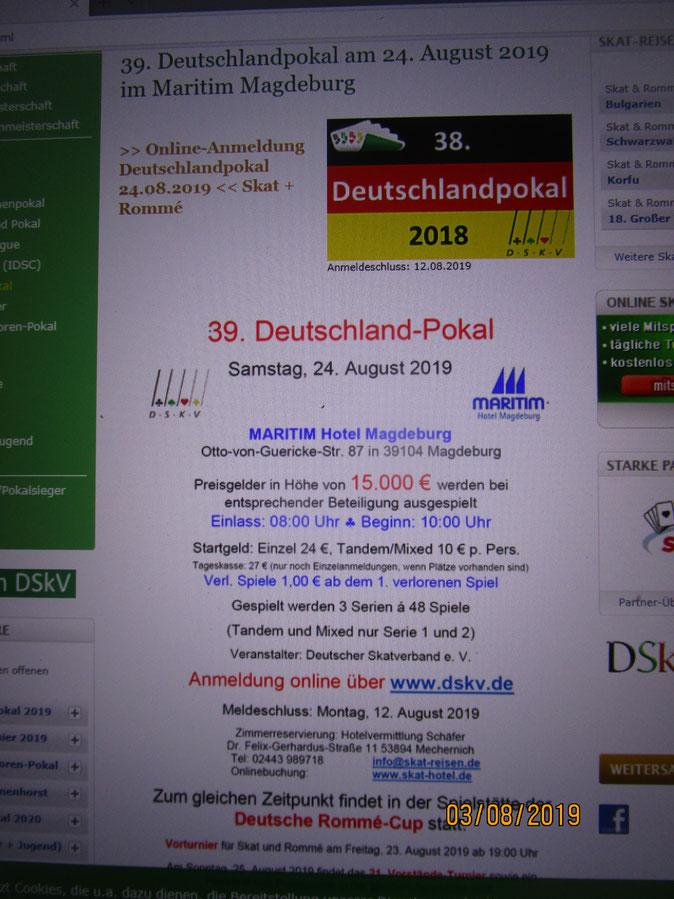Das Team vom www.Skatspielershop.de ist dabei