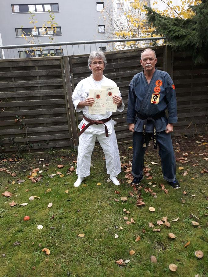 Grossmeister Kenko Kempo Karate  Erich B. Ries und Ralf Steffen