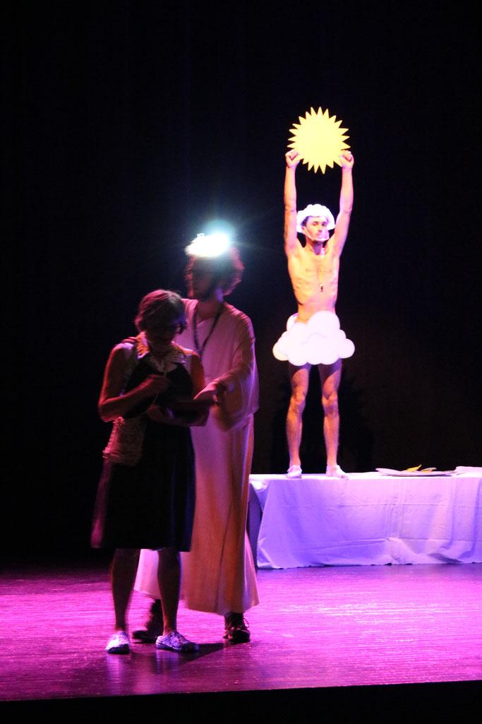 Improvisation théâtrale sur la Genèse en hommage à Boris Vian
