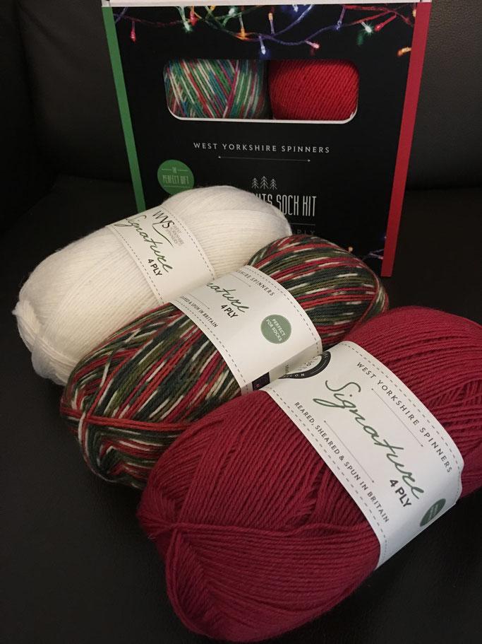Sockengarn, Sockenwolle, Geschenk, Weihnachten, Strickset, West Yorkshire Spinners