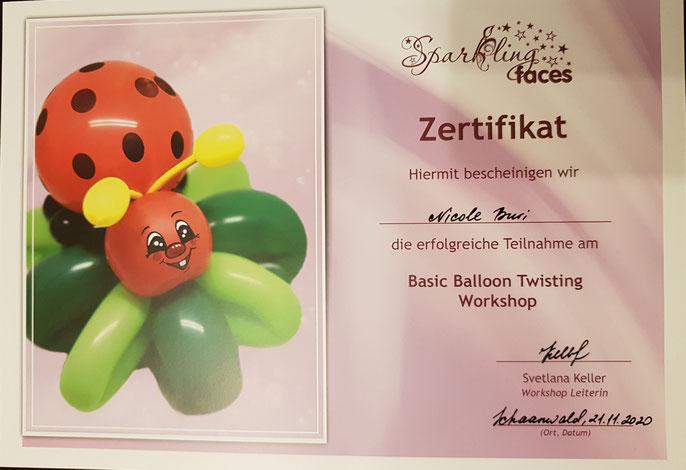 Zertifikat Ballontwisting