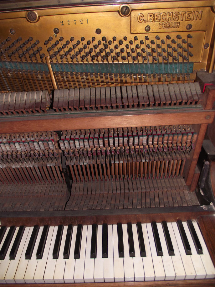 Rejig Beachstein piano at the Dower House, Isle of Islay, Inner Hebrides, Scotland.