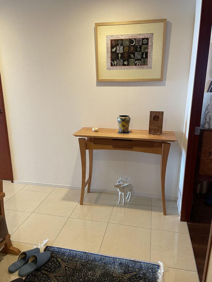 コンソール。家具工房ZEROSSOのオーダーメイド家具。