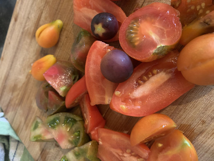 Medley of heirloom tomatoes - Tomato and Zucchini Soup Recipe