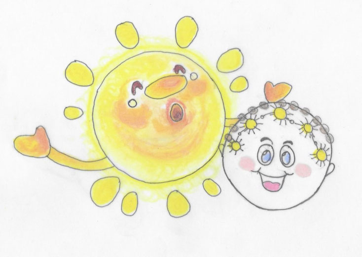 Sonne lachendes Gesicht Lösung