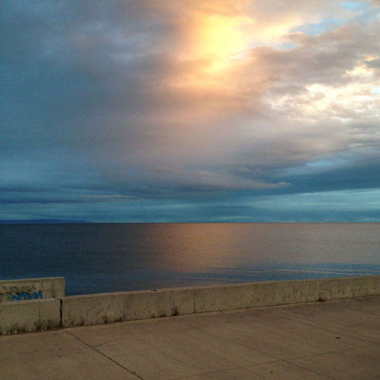 Sonnenuntergang in Punta Arenas. #no-filter!