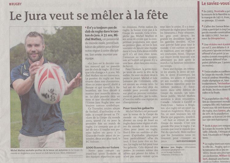 Le Quotidien Jurassien 18.09.15