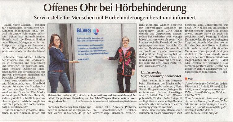 Quelle: Straubinger Tagblatt 01.02.2021