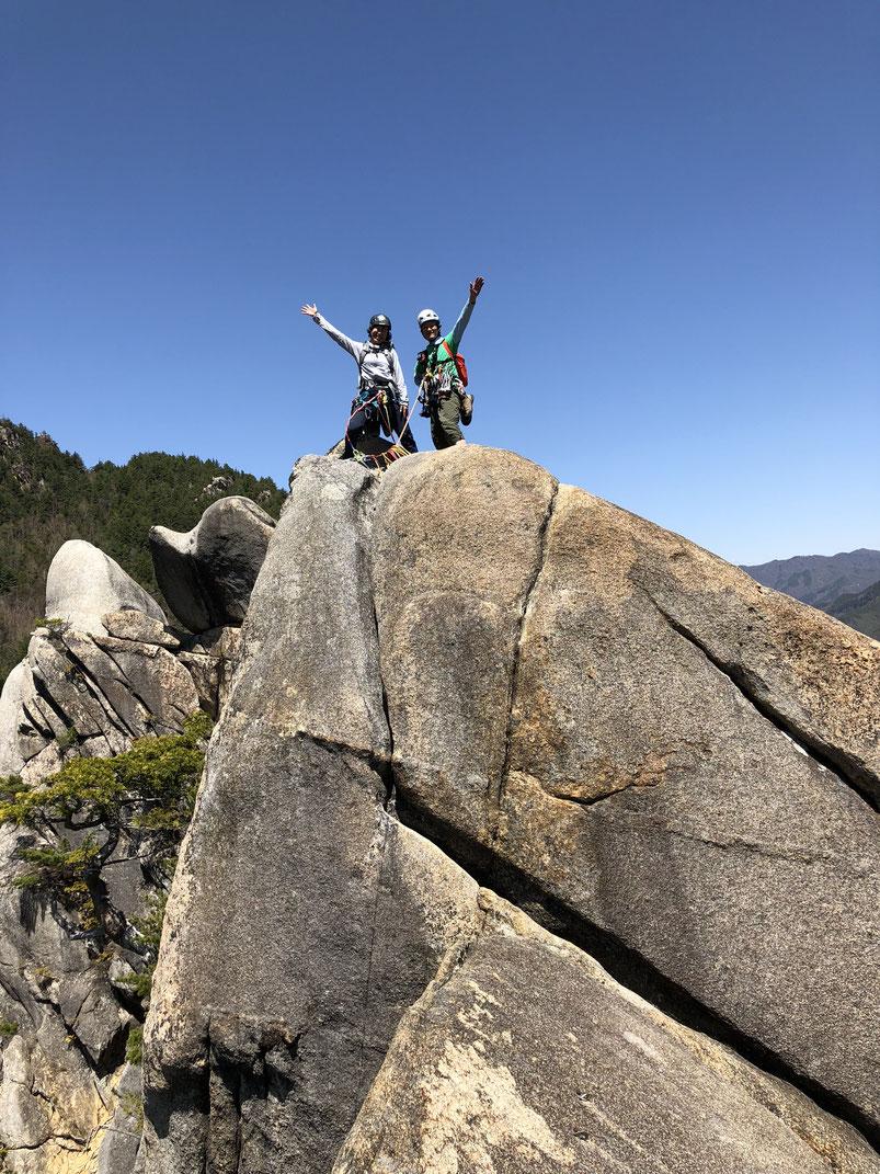 小川山2峰登頂