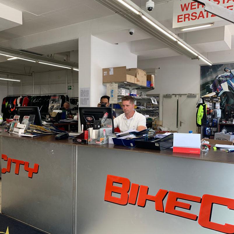 Videoüberwachung über der Kasse bei Kunden BIKE CITY in 1150 Wien