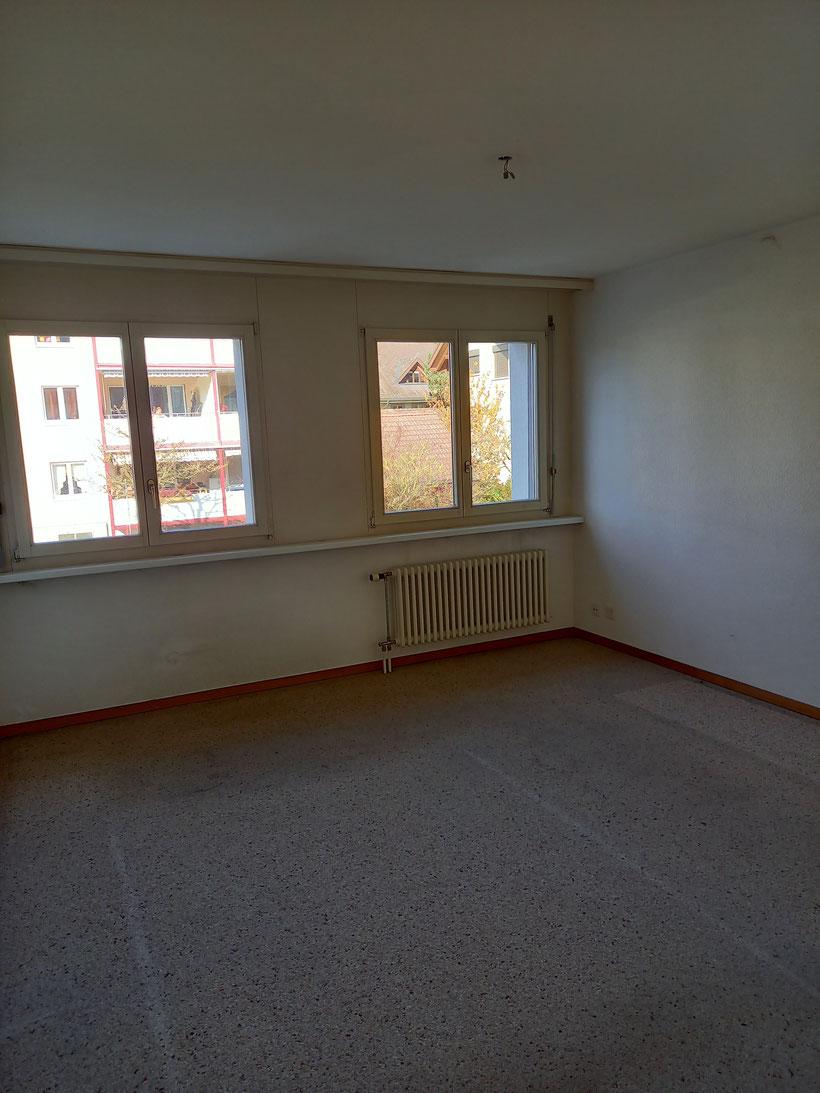 Schlafzimmer (Auswechslung Bodenbeläge sowie Anstrich Wände und Decken werden vorgenomen)