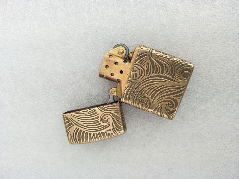 Brass lighter laser engraving