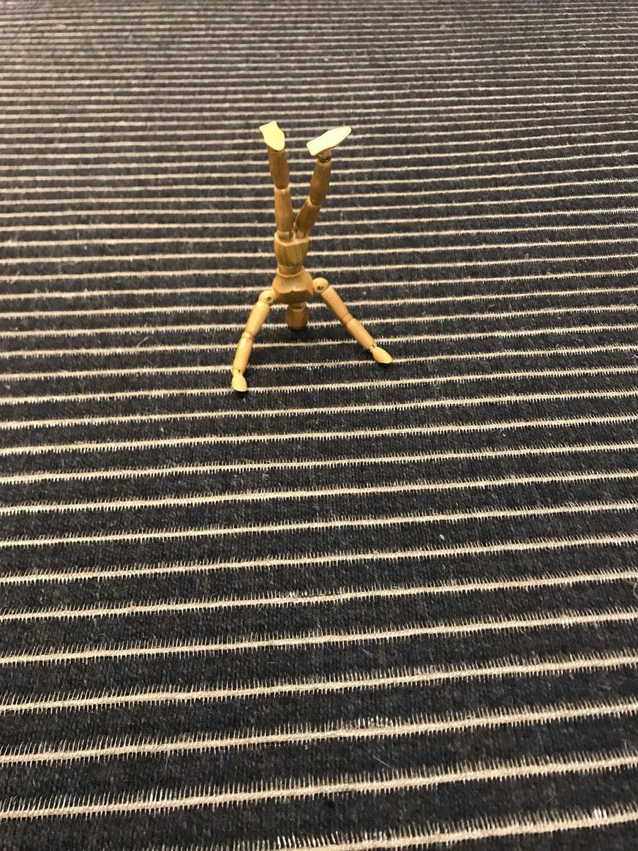 Läufer Ruckstuhl 95 x 206 cm  mit Leineneinfassung