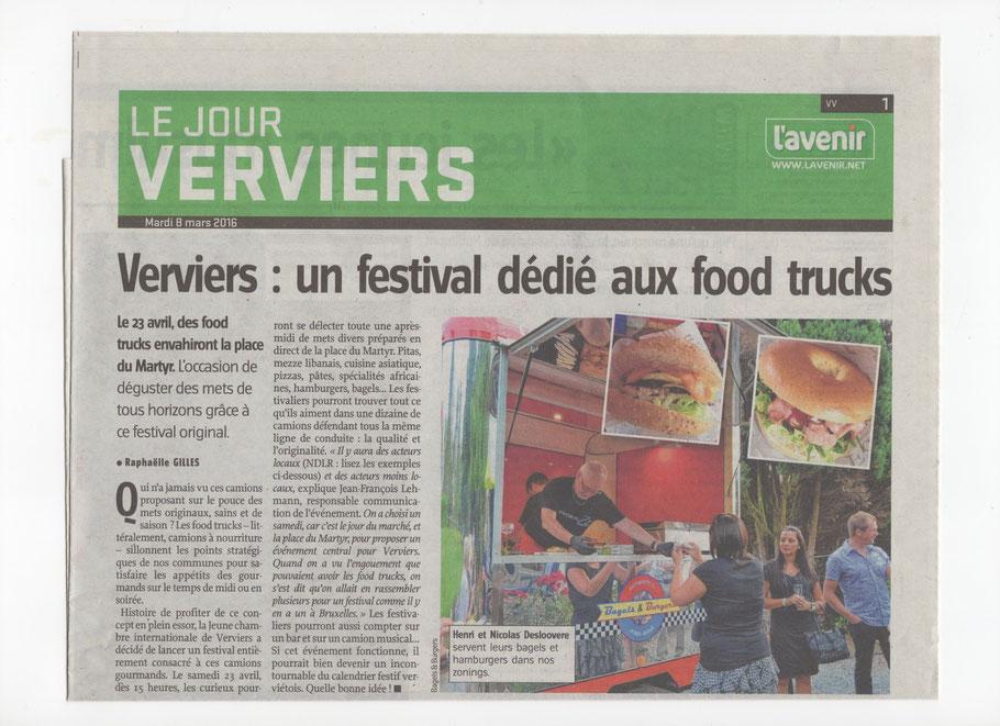 Food Truck Festival à Verviers 23/04/2016