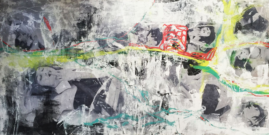 """""""The disappearance of us"""" (48"""" x 95.5"""") 