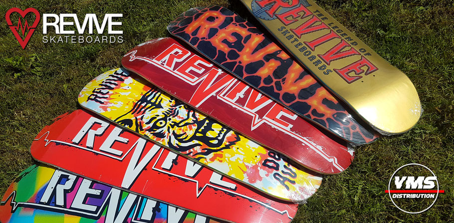 Revive Skateboards Europe at VMS Distribution / Get your Revive Deck over at the VMS Distr. Online Shop! Fast Shipping through the whole EU. VMS Distribution is located in Germany.