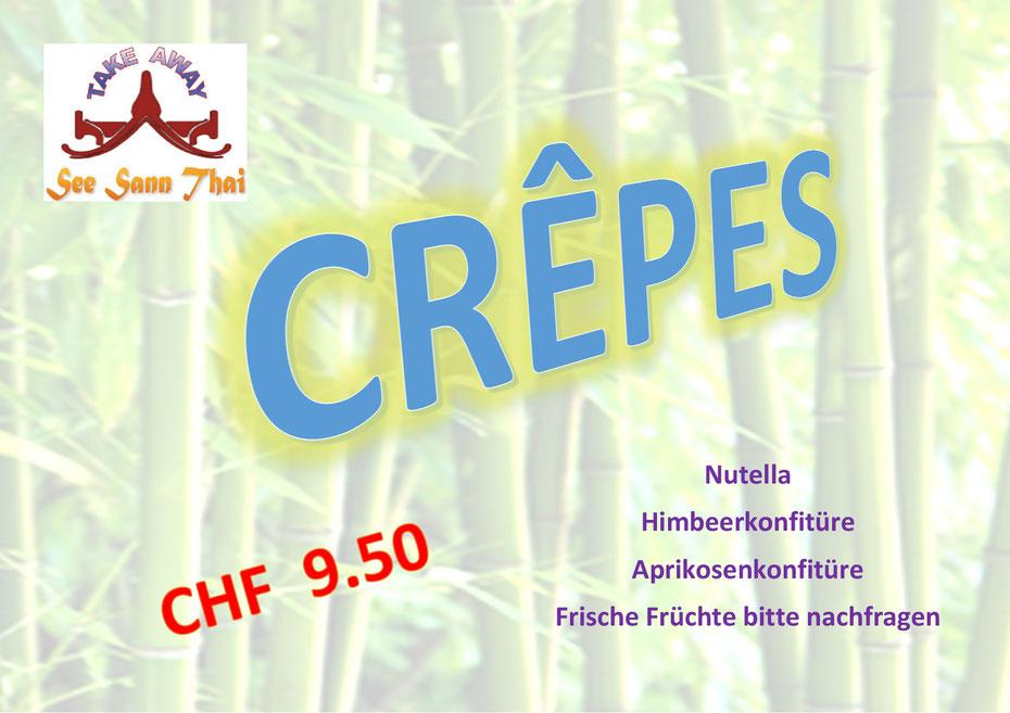 Crêppes neu auch ab CHF 5.00
