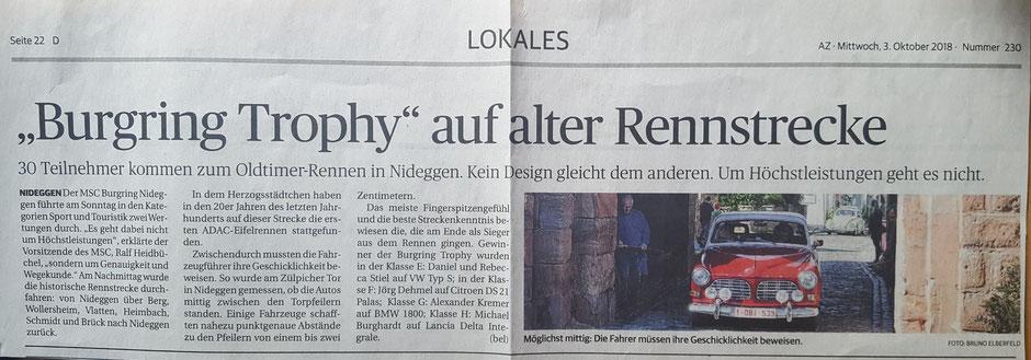 Dürener Zeitung vom 3.10.2018