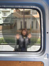 シースルーフィルム 車内から車外が見えます。