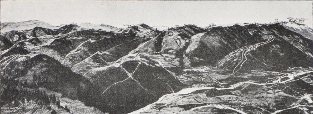Frontpanorama mit dem Weg des WGB vom 24.10.1917.