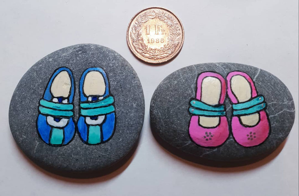 Kleine Schuhe, die perfekten Glücksbringer für neue Erdenbewogner.
